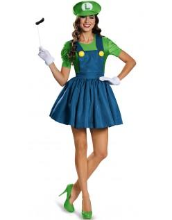 Voksen Luigi Kostyme Super Mario Rørlegger Kostyme