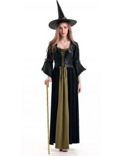 Klassisk Deluxe Halloween Heks Kostyme