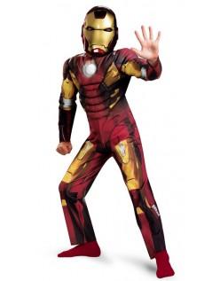 Avengers Iron Man Mark VII Classic Muskel Kostyme Barn Rund