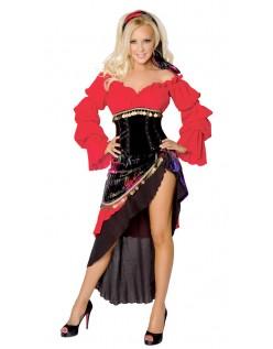 Magedans Halloween Gypsy Pirat Kostyme