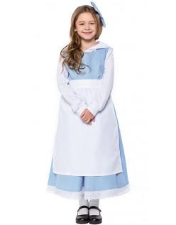 Skjønnheten og Udyret Belle Kostyme Barn Stuepike Kostyme