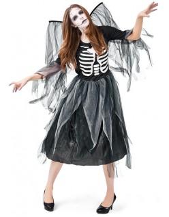 Halloween Skummelt Skjelett Kostyme Mørk Engel Kostyme