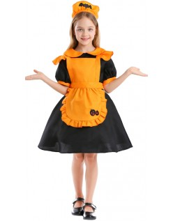 Barn Halloween Gresskar Kostyme Bat Maid kostyme