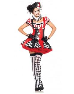 Harlequin Sirkus Klovne Kostyme