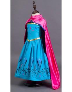 Frost Prinsessekjole Barn Kroningsdag Elsa Kostyme