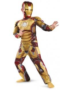 Avengers Iron Man Mark VII Classic Muskel Kostyme Barn Gul