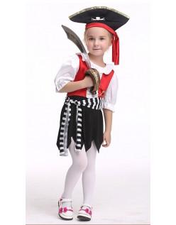 Halloween Jente Pirat Kostyme Barn