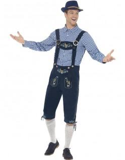 Traditional Bayersk Oktoberfest Lederhosen Kostyme