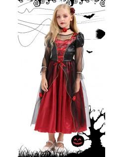 Jenter Gotisk Vampyr Kostyme Halloween Kostymer for Barn