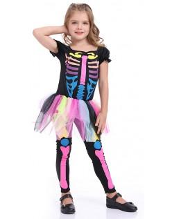 Jenter Halloween Skjelett Kostyme Barn