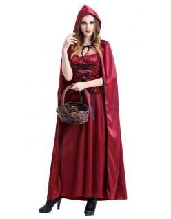 Glamorøs Halloween Lille Rødhette Kostyme