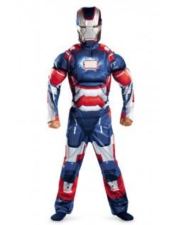Avengers Iron Man Mark VII Klassisk Muskel Kostyme Barn Blå
