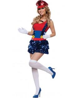 Blokk Hoppe Rørlegger Kostyme Super Mario Kostyme