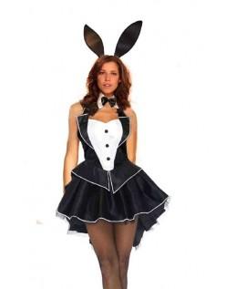 Svart Playboy Bunny Kostyme