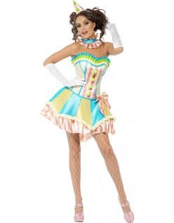 Vintage Sirkus Klovne Kostyme