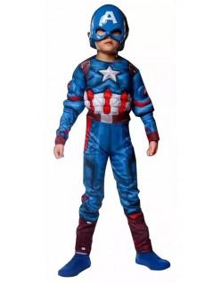 Captain America Muskel Kostyme Barn Superhelt Kostyme