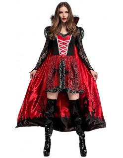 Dame Elegant Halloween Vampyr Kostyme