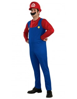 Super Mario Bros Mario Kostyme Voksen