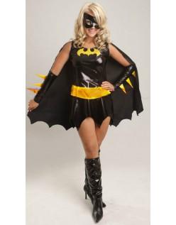 Svart Superhelt Batgirl Kostyme For Halloween
