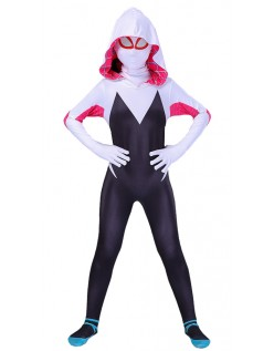 Spider Gwen Kostyme Spidergirl Superhelt Kostyme Barn