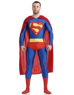 Klassisk Lycra Spandex Superman Kostyme
