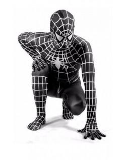 Klassisk Lycra Spiderman Kostyme Voksen Svart