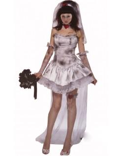 Halloween Zombie Brud Kostyme
