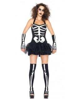 Sexy Skjelett Kostyme Dame Karnevalkostyme
