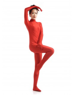 Morphsuit Lycra Spandex Drakt Second Skin Kostyme Dame Rød