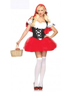 Racy Rød Halloween Rødhette Kostyme