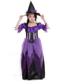 Glamorøse Lilla Heks Kostyme Barn