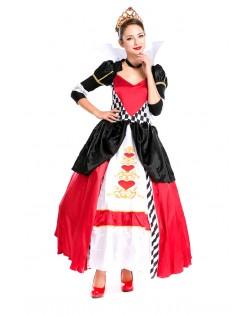 Elegant Deluxe Hjerter Dronning Kostyme