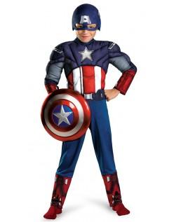 Klassisk Captain America Muskel Kostyme Barn Jumpsuit