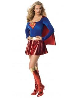 Superhelt Kostyme Sexy Superwoman Kostyme