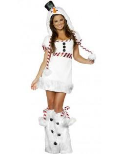 Hvit Snømann Kostyme Dyrekostymer