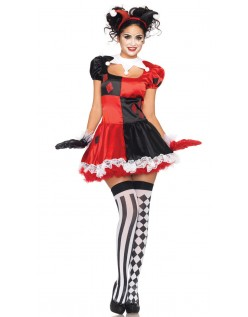 Søt Halloween Klovnekostyme Dame