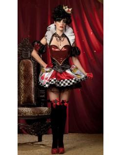 Sexy Kort Hjerter Dronning Kostyme