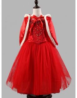 Vinter Fairy Prinsesse Kjole Rød
