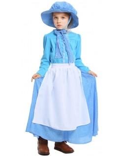 Koloni Bonde Kostyme Barn Borgerkrig Præriepioner Kostyme
