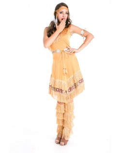 Deluxe Halloween Indianer Kostyme Dame
