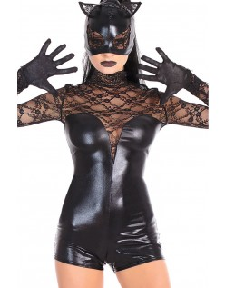 Halloween Superhelt Catwoman Kostyme