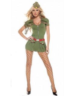 Sexy Militær Kostyme Dame Grønn