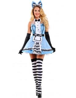 Sofistikert Alice i Eventyrland Kostyme Dame