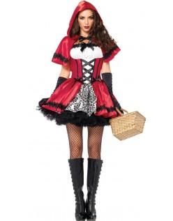 Gotisk Lille Rødhette Kostyme