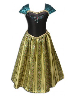 Frozen Kostyme Barn Anna Prinsessekjole
