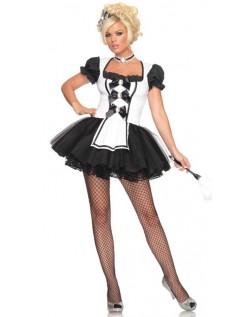 Elskerinne Fransk Stuepike Kostyme