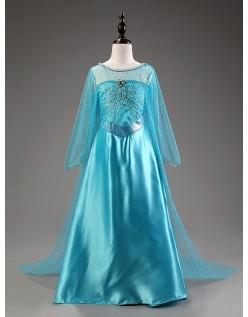 Deluxe Frozen Kostyme Elsa Prinsesse Kjole Barn