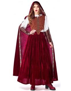 Deluxe Strålende Halloween Rødhette Kostyme