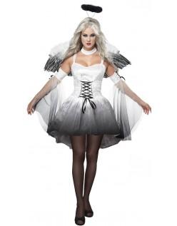 Halloween Hvit Engle Kostyme