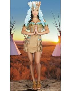 Halloween Stroppete Frynsede Indianer Kostymer